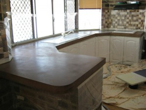 Kitchen Benchtops Refinishing Before