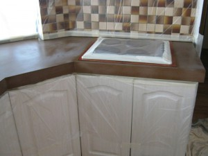 Kitchen Benchtops Resurfacing Before